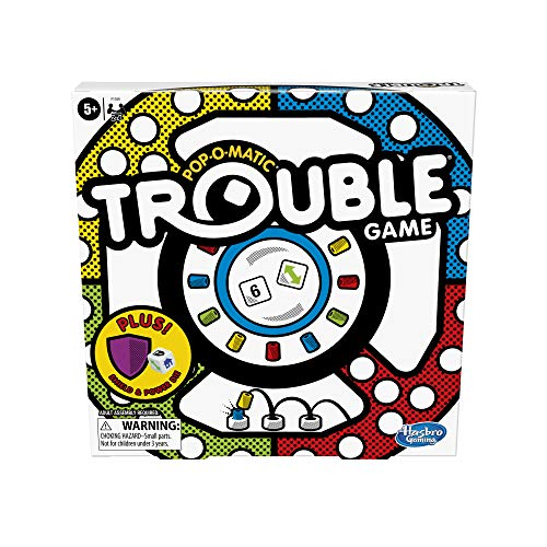 Trouble Board Game Includes Bonus Power Die and Shield, Game for Kids Ages ...
