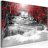 decomonkey | Impression sur Toile intissée Noir et Blanc Chute d'eau 90x60 cm |...