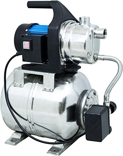 Güde 94637 HWW 1000E Mécanisme à eau domestique 1000 W 3500 l/h Interrupteur poussoir 19 l en acier inoxydable Hauteur de refoulement 44M