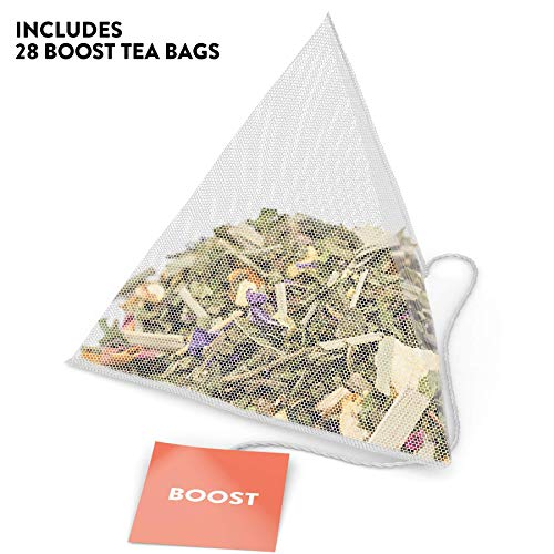 Skinny Tea 28 Day Detox Tea for Weight Loss and Reduced Tummy Bloating: The Original 2-Step Detox Tea Program Includes 28 Morning Boost & 28 Evening Cleanse Pyramid Tea Bags 3