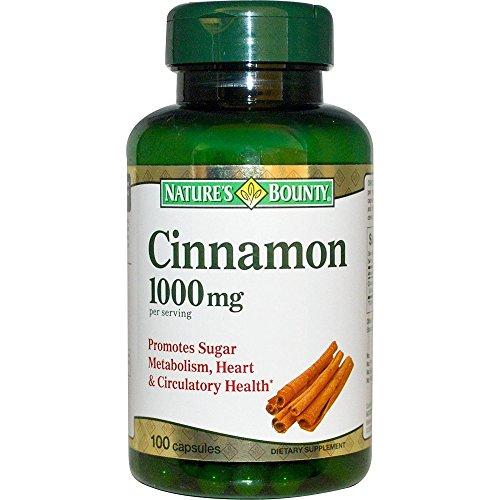 Nature's Bounty Cinnamon 1000mg, 100 Capsules (Pack of 6) 2