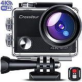 Crosstour Caméra Sport 4K Ultra HD Wi-FI 20 MP LDC avec Télécommande...