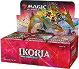 Magic: The Gathering Ikoria: Lair of Behemoths (36 Paquetes de Refuerzo) – Incluye lámina Godzilla Series Monsters Box Topper