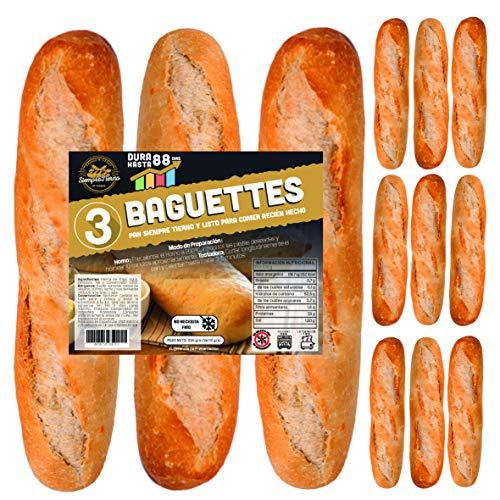 12 x Baguettes de Pan SiempreTierno 110 grs (1320 grs total)