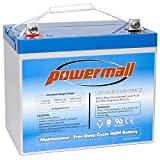 12V 75AH Deep Cycle Battery for Wayne ESP25 WSS30V Backup Sump Pump, Trolling Motor, Solar System, Mobility Wheelchair, General Use