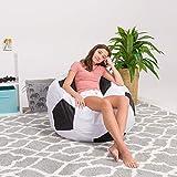 Posh Beanbags Bean Bag Chair, X-Large-48in, Sports Soccer Ball Black and White