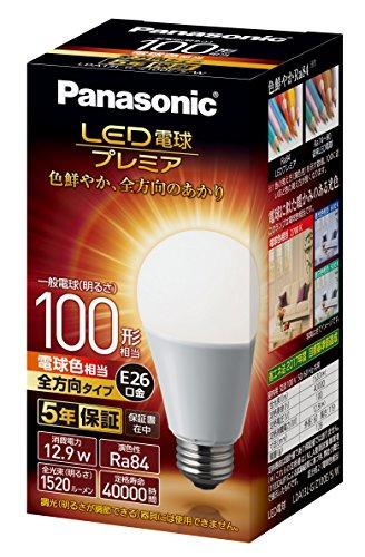 パナソニック LED電球 口金直径26mm プレミア 電球100形相当 電球色相当(12.9W) 一般電球 全方向タイプ 1個...