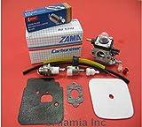 Mantis Tiller Parts Tune Up kit with Mantis Carburetor C1U-K54A, and Gasket, Fits All New Mantis and Echo Tiller with 3-Hoses System