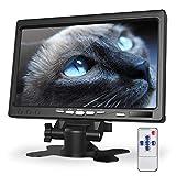 Kuman 7 Zoll Monitor HD Display 1024x600 IPS Bildschirm für Raspberry Pi 4 B 3 2B B 1 B A mit HDMI VGA Eingang, eingebauter Lautsprecher für DVD VCR Auto-Fernbedienung SC7J
