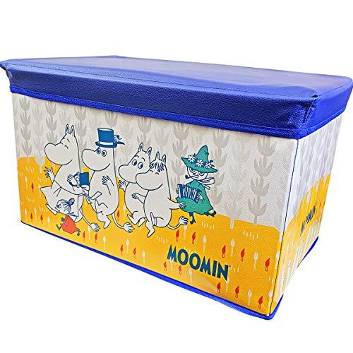 ムーミン 座れる 収納ボックス 収納スツール (ブルー)