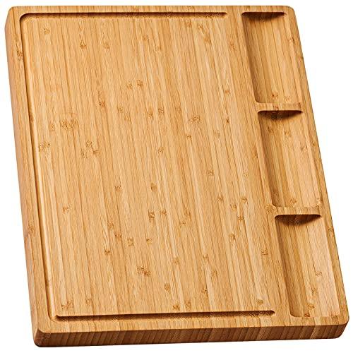 Bamboo Cutting Board w/ Dividers