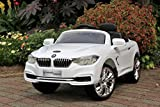 First Drive BMW 4-Series 12v Kids Cars - Dual Motor Electric Power Ride On Car with Remote, MP3, Aux Cord, Led Headlights, and Premium Wheels (White)