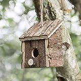 garden mile - Casetta per Uccelli da Appendere, in Legno Naturale, casetta per Uccelli Selvatici, Decorazione da Giardino