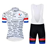 logas Maillot de France Drapeau Ensemble Cyclisme Manche Courte...