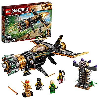 LEGO NINJAGO Boulder Blaster (71735) is an upgraded and modern Legacy playset featuring a super cool shooting airplane and ninja prison to give kids an action-packed play experience Includes 4 minifigures: ninjas Cole, Lloyd and Kai Legacy to take on...