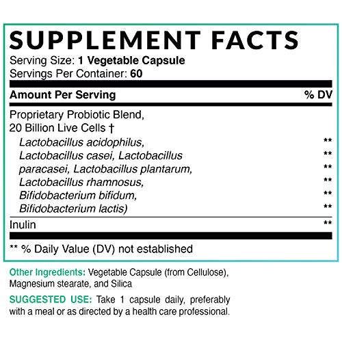 MAV Nutrition Probiotics + Prebiotics for Digestive Enzymes Support, Non-GMO, Vegetarian Friendly, 60 Count 2