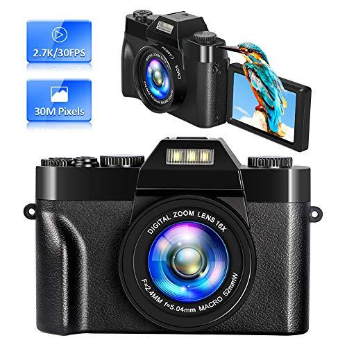 Appareil Photo Numérique Vlogging Camera Caméra Vidéo 2.7K 30 MP 16x...