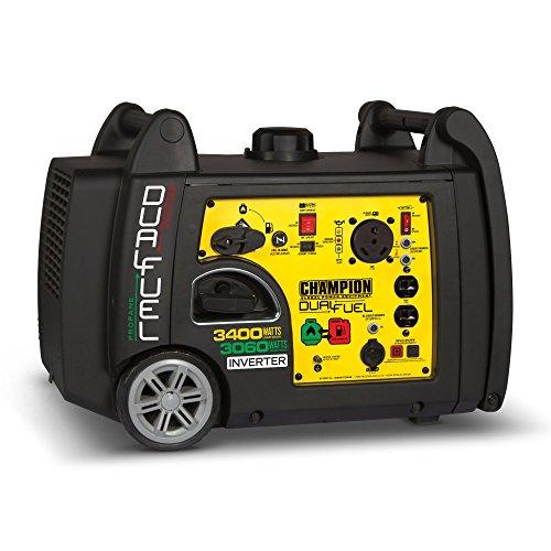 Champion 100263 3400-Watt Dual Fuel Portable Inverter Generator