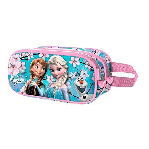 Die Eisknigin (Frozen) Sister Queens-3D Doppelfedermppchen Astuccio, Blu, poliestere