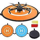 Homga Drones Landing Pad Universal Waterproof D 75cm/30'' Portable Foldable Landing Pads for RC Drones Helicopter, PVB Drones, DJI Mavic Pro Phantom 2/3/4/ Pro, Antel Robotic, 3DR Solo (Landing pad)