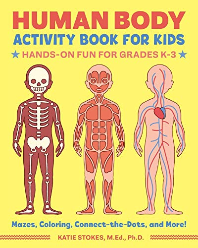 Human Body Activity Book for Kids: Hands-On Fun for Grades...