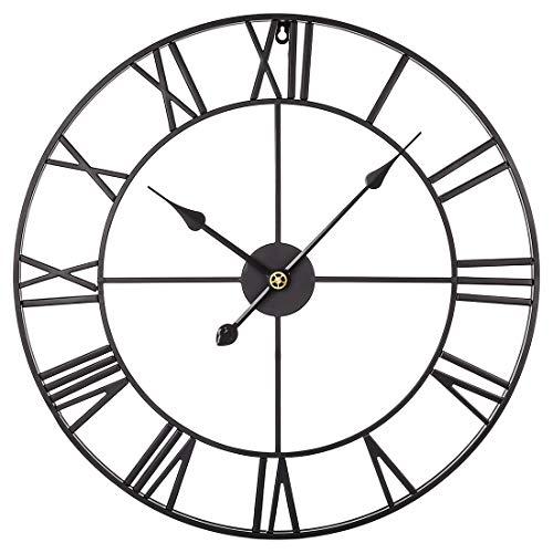12che Orologio da Parete Grande 60cm Orologio da Parete Vintage Orologio da Parete in Metallo...