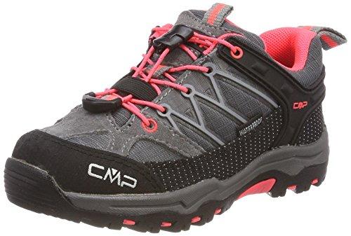 CMP Unisex-Kinder Rigel Trekking-& Wanderhalbschuhe, Grau (Grey-Red Fluo), 28 EU