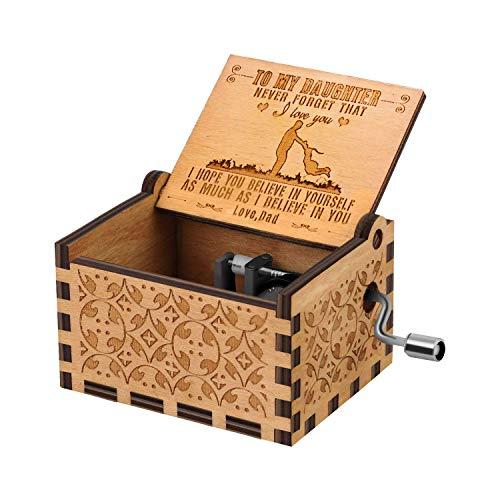 RUYE You are My Sunshine Music Box Wood Personalizable Music...