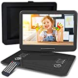 WONNIE 16.9' Portable DVD/CD Player with 14.1' Large Swivel Screen, Car Headrest Case, 6 Hrs 4000mAH...