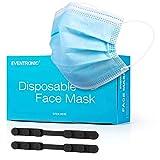 Eventronic Masque facial 50Pcs Masque de protection jetable à trois couches...