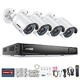 Annke PoE Système de Surveillance HD 8CH NVR avec 4 IP Caméras de Surveillance Hikvison Dahua 4MP ONVIF,sans HDD