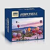 Puzzle Adulte 1000 pièces, Puzzle Adulte, adapté aux Enfants, Adolescents, Famille (50X70CM) (Hot air Balloon)