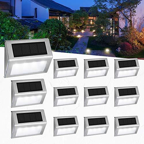 Luces Solares para Exterior Jardín 4LED Easternstar, Lámparas...