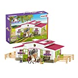 Schleich Horse Club Horse Stable Riding Center with Rider and Horses 44-piece Playset for Kids Ages 5-12