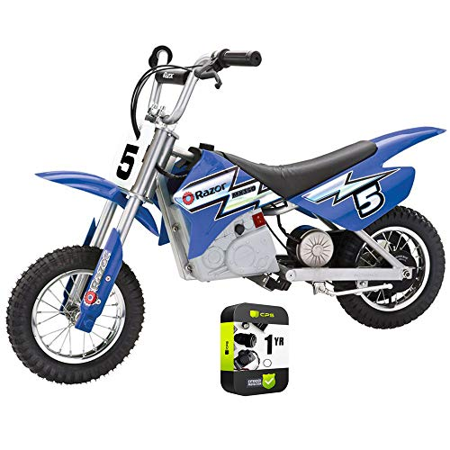 Razor 15128040 MX350 Dirt Rocket Electric Motocross Bike Ages 12 and up Bundle with 1 Year Extended Protection Plan