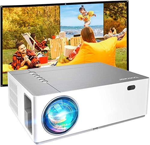 Proiettore 7200 Lumen Nativo Full HD 1080p, ± 50° Correzione Trapezoidale Zoom, BOMAKER 300''Display Supporta...