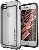 Ghostek Atomic Slim Clear Aluminum Bumper Case Compatible with iPhone 8/7 – Silver