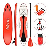 Uenjoy Inflatable Sup 11'30'x6' All Around Paddle Board, W/Full Accessories, Perfect for Yoga Fishing Touring (red, 10')