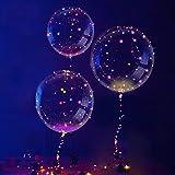 3 PIÈCES LED des Ballons, Transparent Fête des Ballons, Unique Fête des...