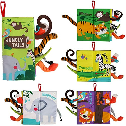 beiens Soft Baby Cloth Books, Touch and Feel Crinkle Books,...