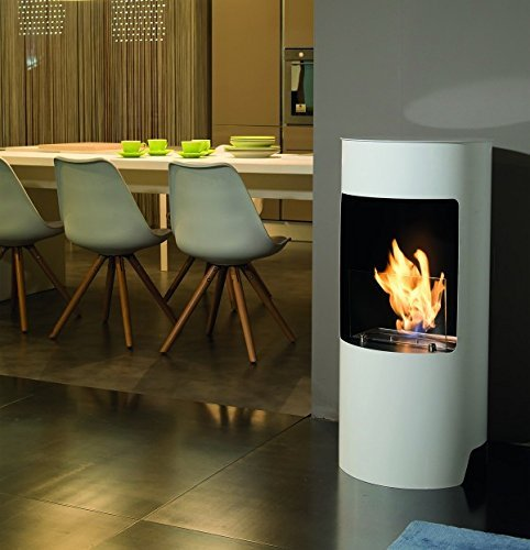 Tecno Air System Cortina Indoor Freestanding Fireplace Bio-Ethanol White – Fireplace (450 mm, 450 mm, 950 mm 23 kg)