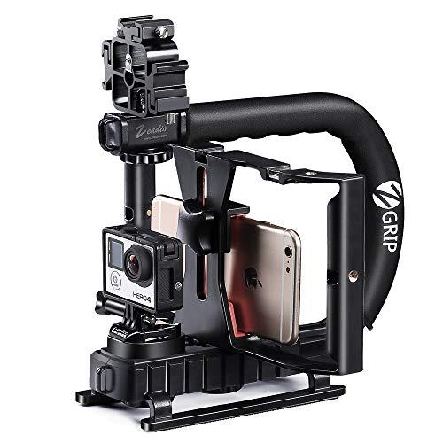 Zeadio Tripla Hot-Shoe stabilizzatore palmare Smartphone Video Rig