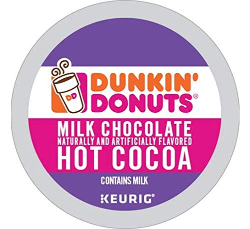 Dunkin' Donuts Milk Chocolate Hot Cocoa Single Serve K-Cups for Keurig Brewers, 24 Count