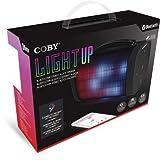 Coby CSBT-331-BLK Light Up Bluetooth Stereo Block Speaker