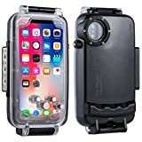 Haweel iPhone X/XS Underwater Housing Professional [40m/130ft] Diving Case for Diving Surfing Swimming Snorkeling Photo Video with Lanyard (iPhone X/XS, Black)