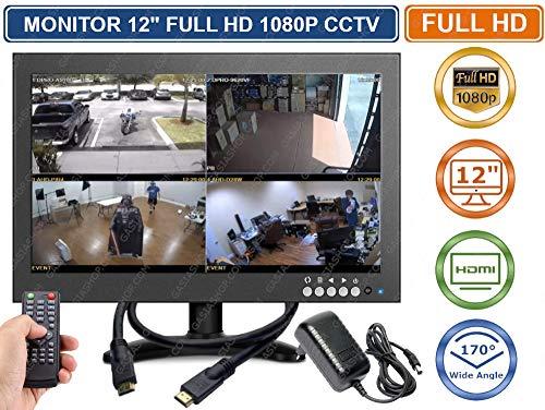 MONITOR 12' POLLICI FULL 1080P COLORI AV VGA HDMI BNC VIDEOSORVEGLIANZA VIDEO PC