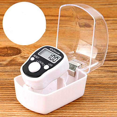 DHANIM Stitch Marker Finger Ring Counter LED Light Electronic Tally Counter(Small)