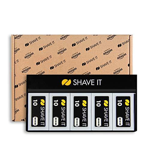 Amazon Exclusive Shave It, Lame a Doppio Taglio, Confezione da 10 (10 x 10 unit = 100 pezzi)