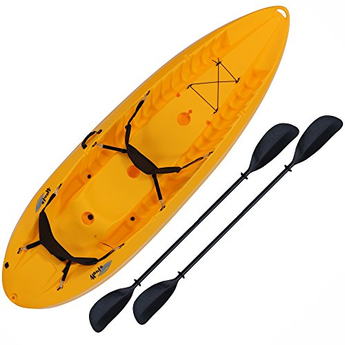 Lifetime Manta Tandem Sit on Top Kayak with Paddles and Backrests, 10 Feet, Yellow (90118)