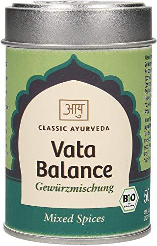 Classic Ayurveda - Vata Balance Churna (Gewürzmischung in Aromaschutzdose), 1er Pack (1 x 50g) - Bio